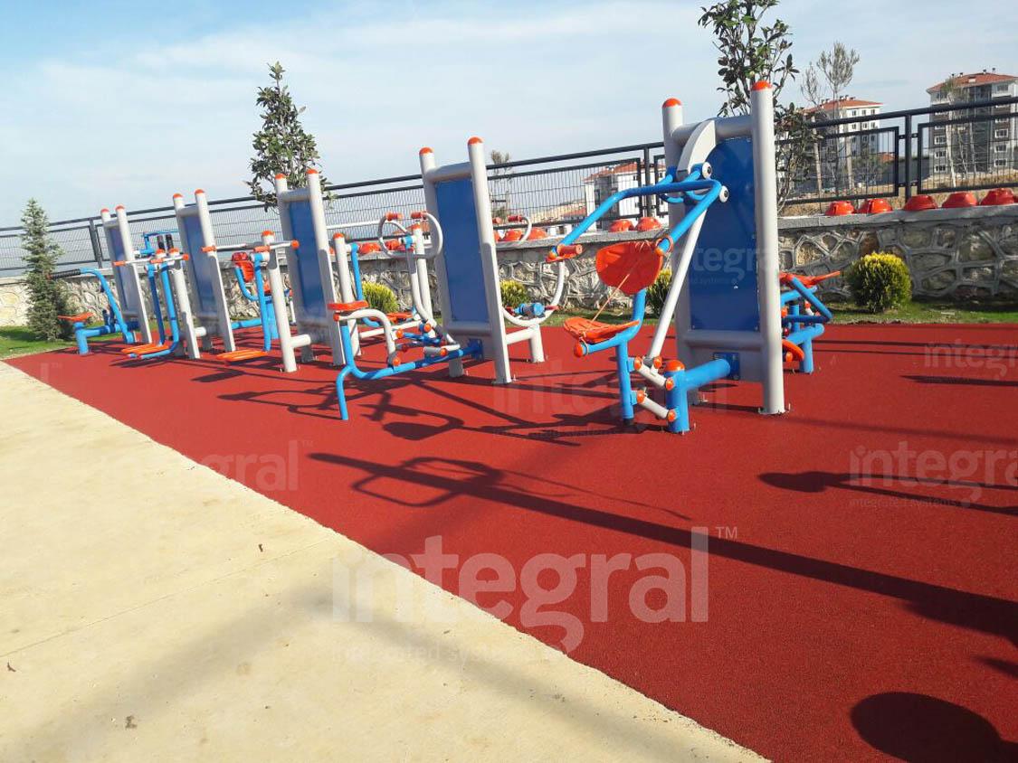 tartan floor playgrounds